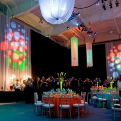 Lighting effects and event decorations for a private event
