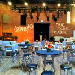 Stage lighting and stage decorations for (give)10