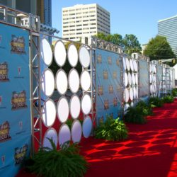 Lighting and stage decoration for the 2007 Hip Hop Awards red carpet