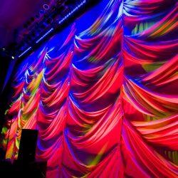 Uplighting and custom stage decorations
