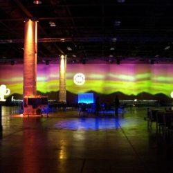 Desert themed event lighting and event decorations