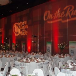 Large corporate event planning and event lighting