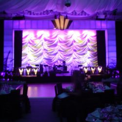 Professional stage lighting and event decorations