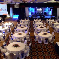 Event lighting and event decorations for MegaFest