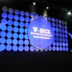 V-Biz Entertainment Conference event lighting
