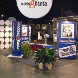 Access Atlanta event decorations and event lighting