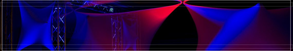 Red and blue event lighting