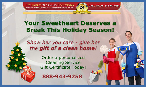 Give her the gift of residential cleaning services in San Jose!