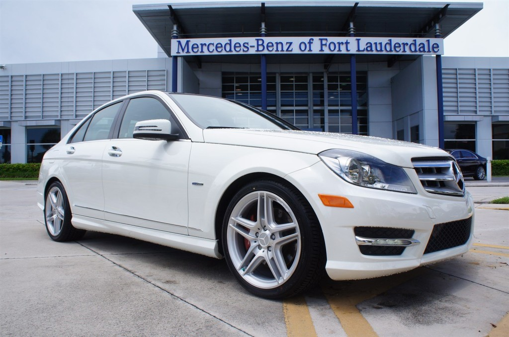 White Mercedes at Mercedes Benz of Fort Lauderdale by CarData