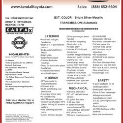 Kendall Toyota Window Sticker by CarData