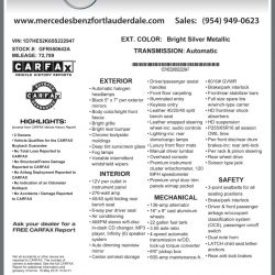 Mercedes-Benz of Fort Lauderdale Window Sticker by CarData