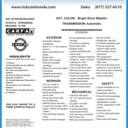 Rick Case Honda Window Sticker by CarData