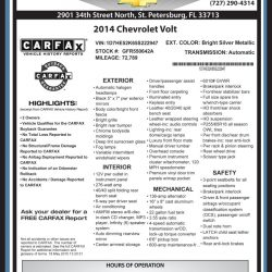 Maher Chevrolet Window Sticker by CarData