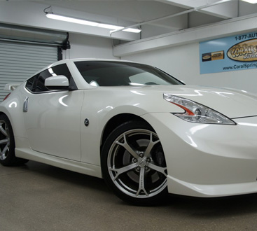 Cropped Nissan Z in a garage by CarData