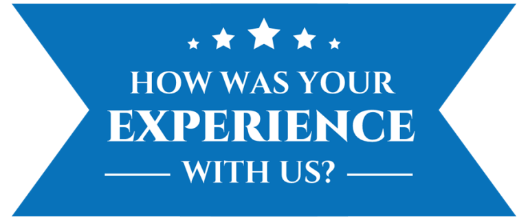 How Was Your Experience Banner From CarData