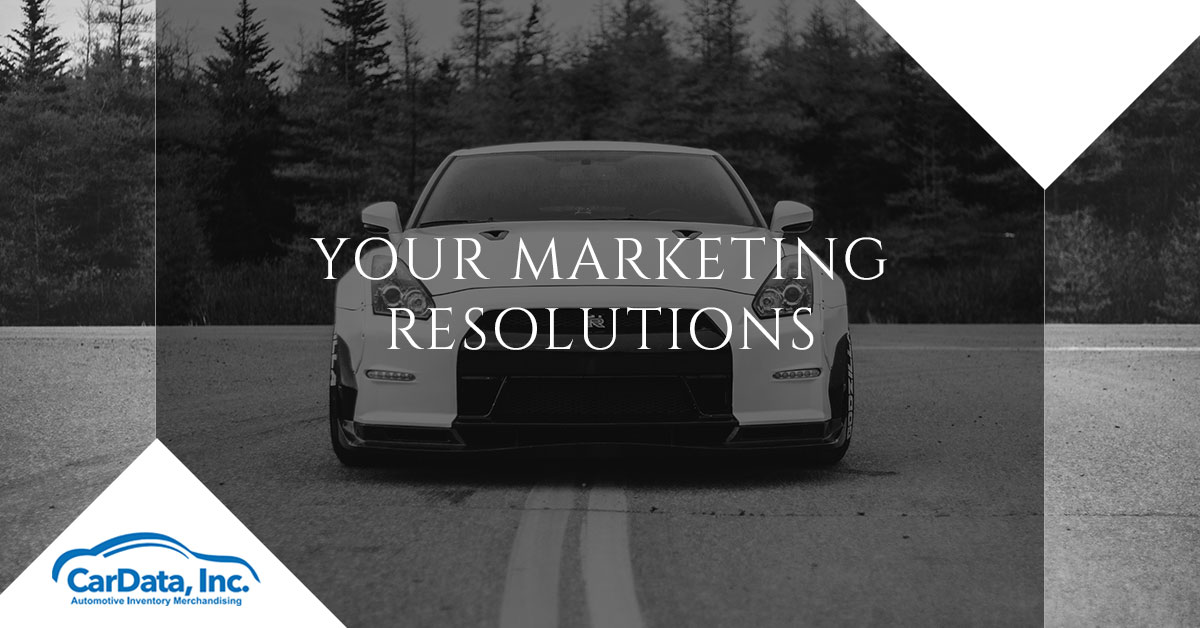 Your Marketing Resolutions CarData Banner