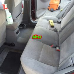 Backseat after interior detailing