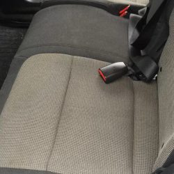Car seats after interior detailing