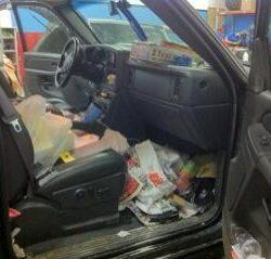 Dirty Car Floor Boards