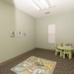 A children's playroom at the chiropractic clinic Cardinal Physical Medicine