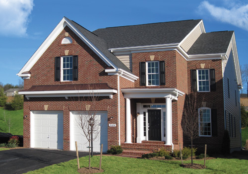 The Oakwood new home at Moreland Estates in Ashburn, VA, homesite 71