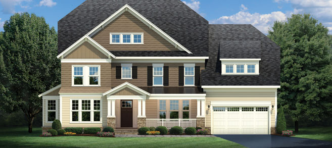 A digital view of a beautiful luxury home from CarrHomes in Hamilton with a two-car garage in Hamilton.