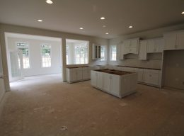The interior of an in-progress kitchen from CarrHomes home designers in Hamilton.