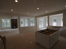 The interior construction for a luxury home from CarrHomes in Hamilton.