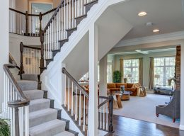The foyer of the Oakton luxury home designed and built by CarrHomes in Hamilton.