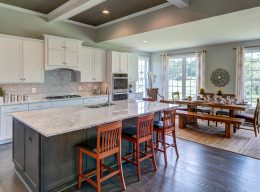The kitchen and dining area of the Oakton luxury home from CarrHomes in Hamilton.