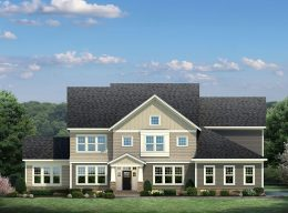 An image showing another customization option for the exterior of a CarrHomes luxury home with a different window and roofing option.