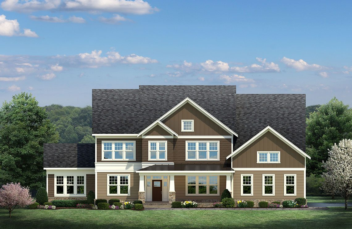 An option for the exterior color and design of a designer home from CarrHomes in Hamilton.