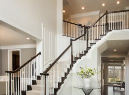 A staircase in one of our houses for sale from CarrHomes in Hamilton.