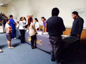 Christine Davies of Casa Companion Homecare Solutions at the MAAC Bridge To Employment Employer Social October 2, 2014
