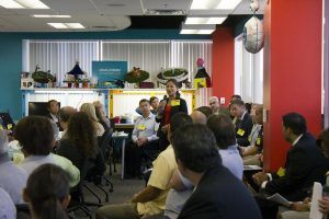 Christine Davies speaking at the WIB SDWP meeting on September 18th