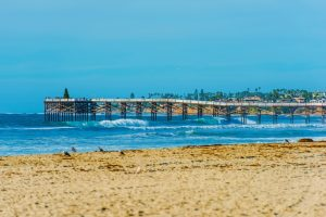 San Diego Beach and Pier at La Jolla Shores San Diego, California, United States.