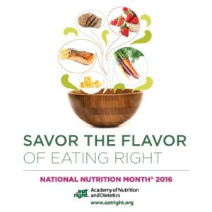 Natl Nutrition Month 2016 logo