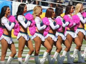 Oct 2 Charger Girls pink poms