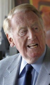 Vin Scully by Brant Ward Staff photographer the chronicle
