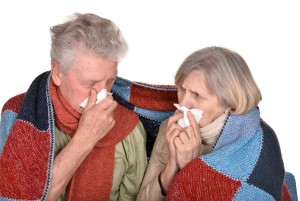 Elderly couple ill with influenza