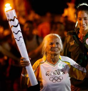 Oldest Olympic torchbearer