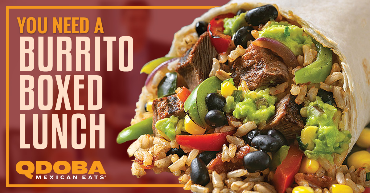 photo about Qdoba Menu Printable called Mexican Catering Laramie: Your self Want a Burrito Boxed Lunch