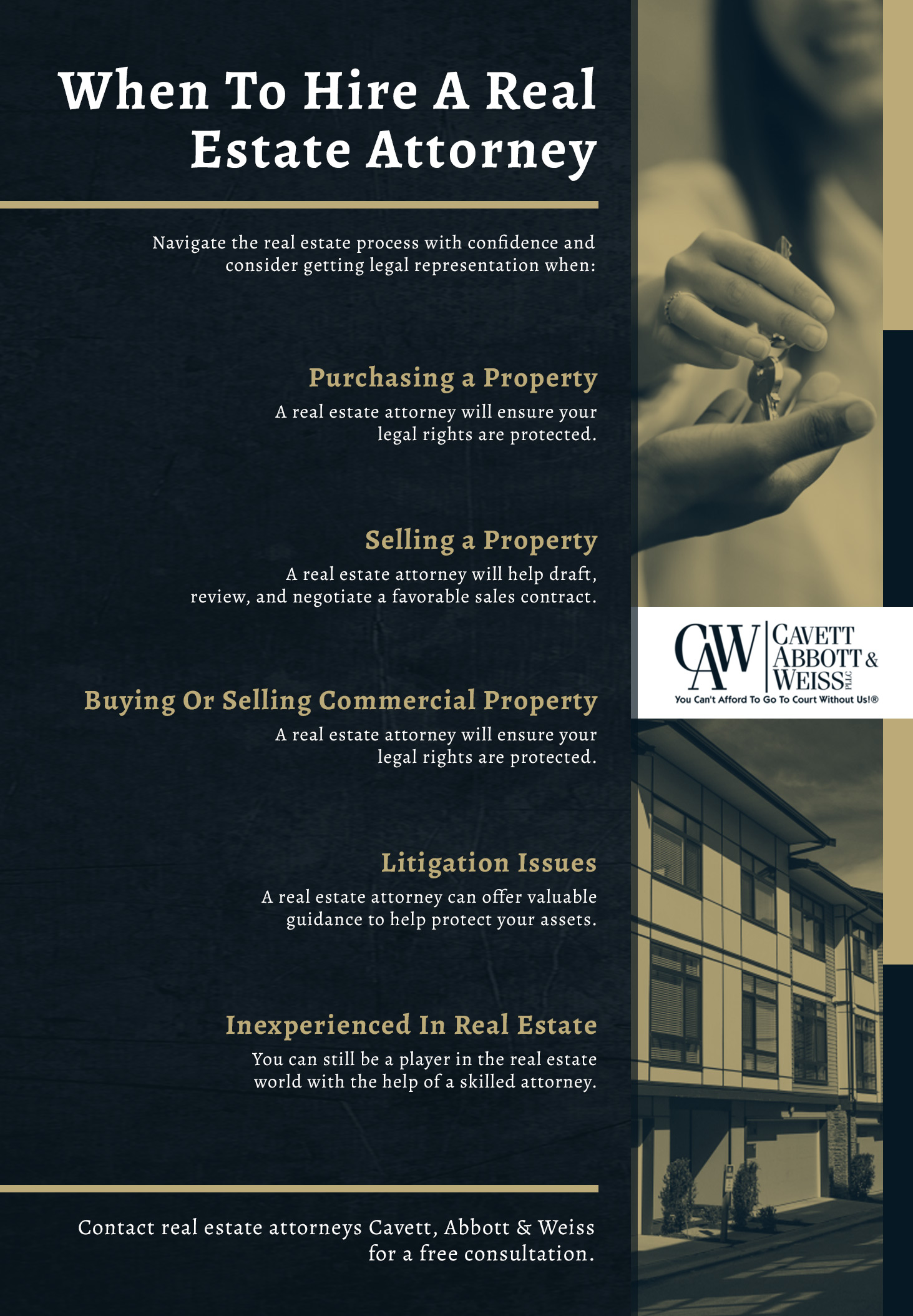 Why Hire A Real Estate Attorney Infographic