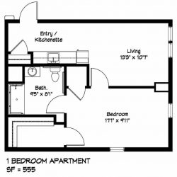 1 Bedroom Apartment Plan