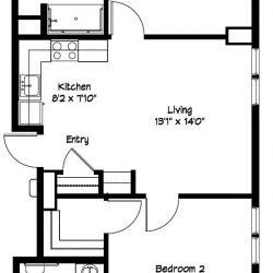 2 Bedroom Apartment Plan