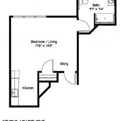 Studio Apartment Plan