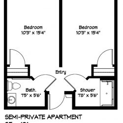 Memory Care Semi-Private Apartment