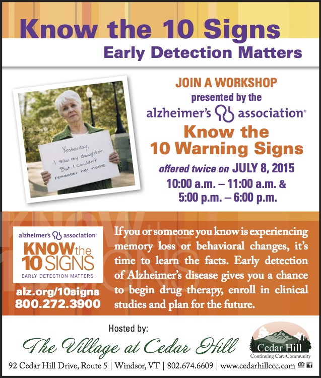 Know the 10 Signs of Alzheimer's - Early Detection Matters