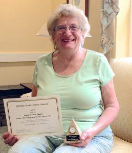 Mary Louise Sayles, winner of Lifetime Acheivement Award