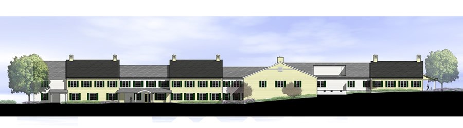 architect drawing of assisted living expansion
